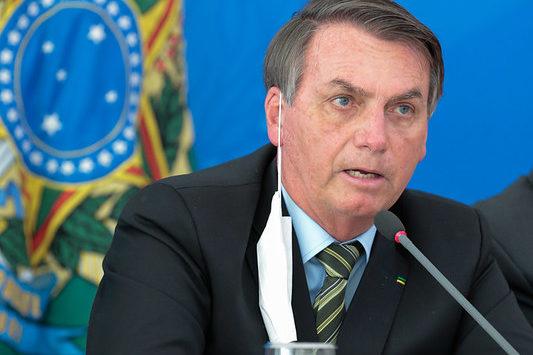 O Presidente da República, Jair Bolsonaro, em coletiva de imprensa em 18/03/2020. Foto: Carolina Antunes/PR