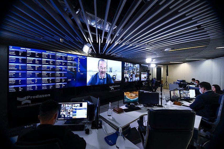 Votação do PLP nº 09/2020 no plenário virtual do Senado Federal. Foto: Marcos Oliveira/Agência Senado