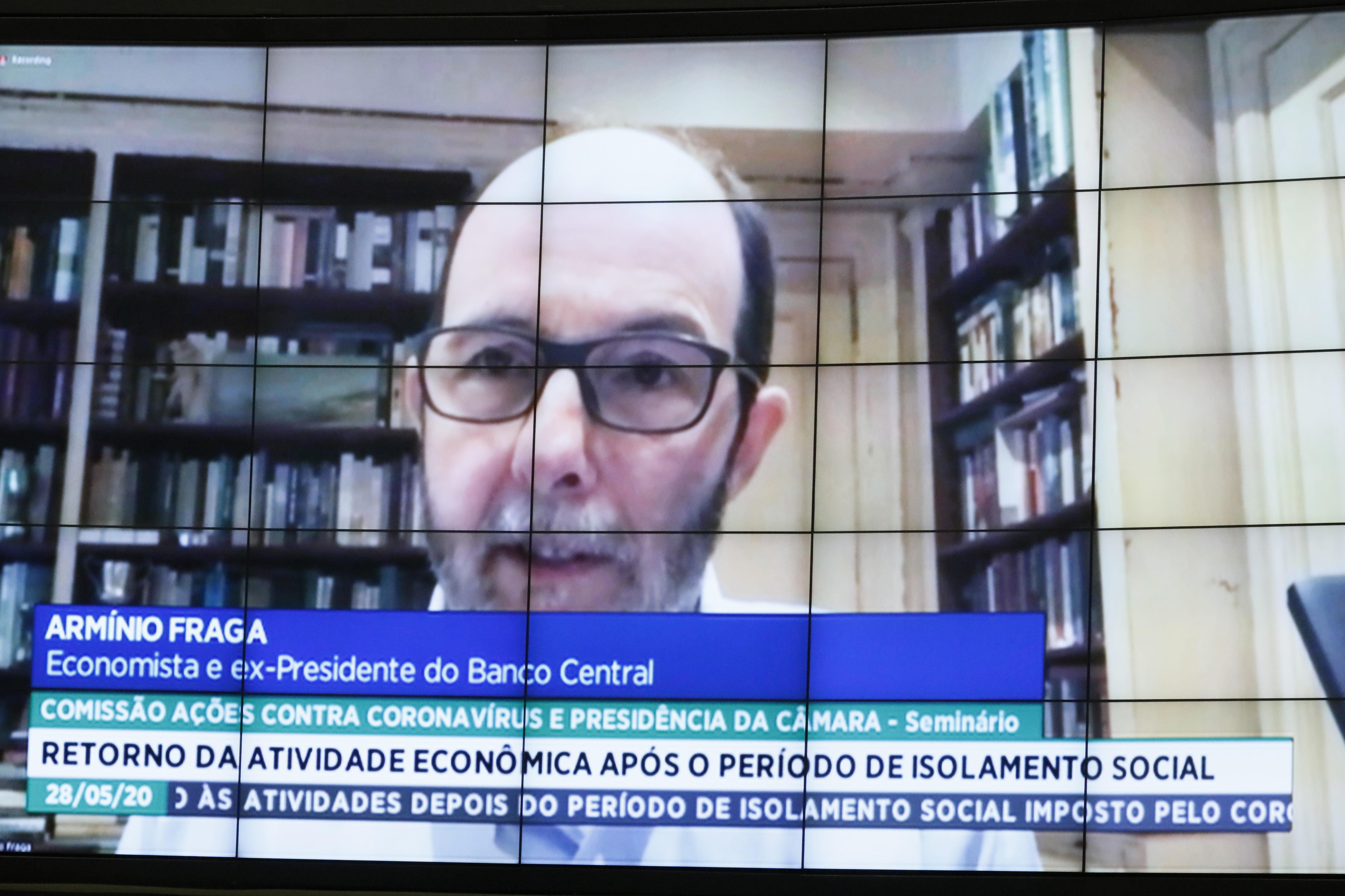 Armínio Fraga, ex-presidente do Banco Central e um dos autores da carta Convergência pelo Brasil, em audiência virtual na Câmara dos Deputados. Foto: Maryanna Oliveira/Câmara dos Deputados
