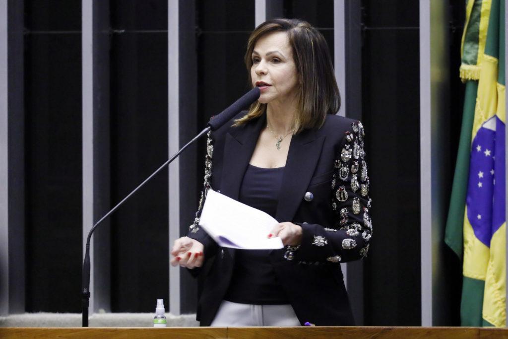 A relatora da PEC do Fundeb, deputada Professora Dorinha (DEM/TO), em discurso na Câmara. Foto: Najara Araujo/Câmara dos Deputados