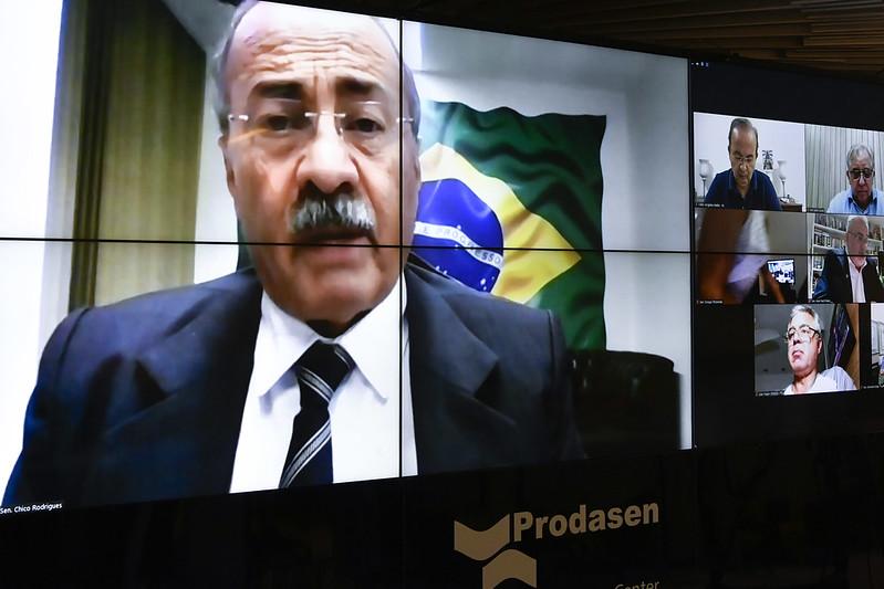 Senador Chico Rodrigues (DEM-RR), em pronunciamento via videoconferência. Foto: Leopoldo Silva/Agência Senado