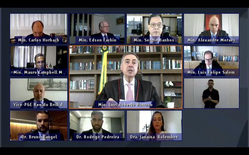 Sessão Jurisdicional do TSE por videoconferência (22/10/2020). Foto: Ascom/TSE