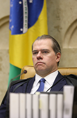 Ministro Dias Toffoli preside sessão plenária por videoconferência. Foto: Nelson Jr./SCO/STF
