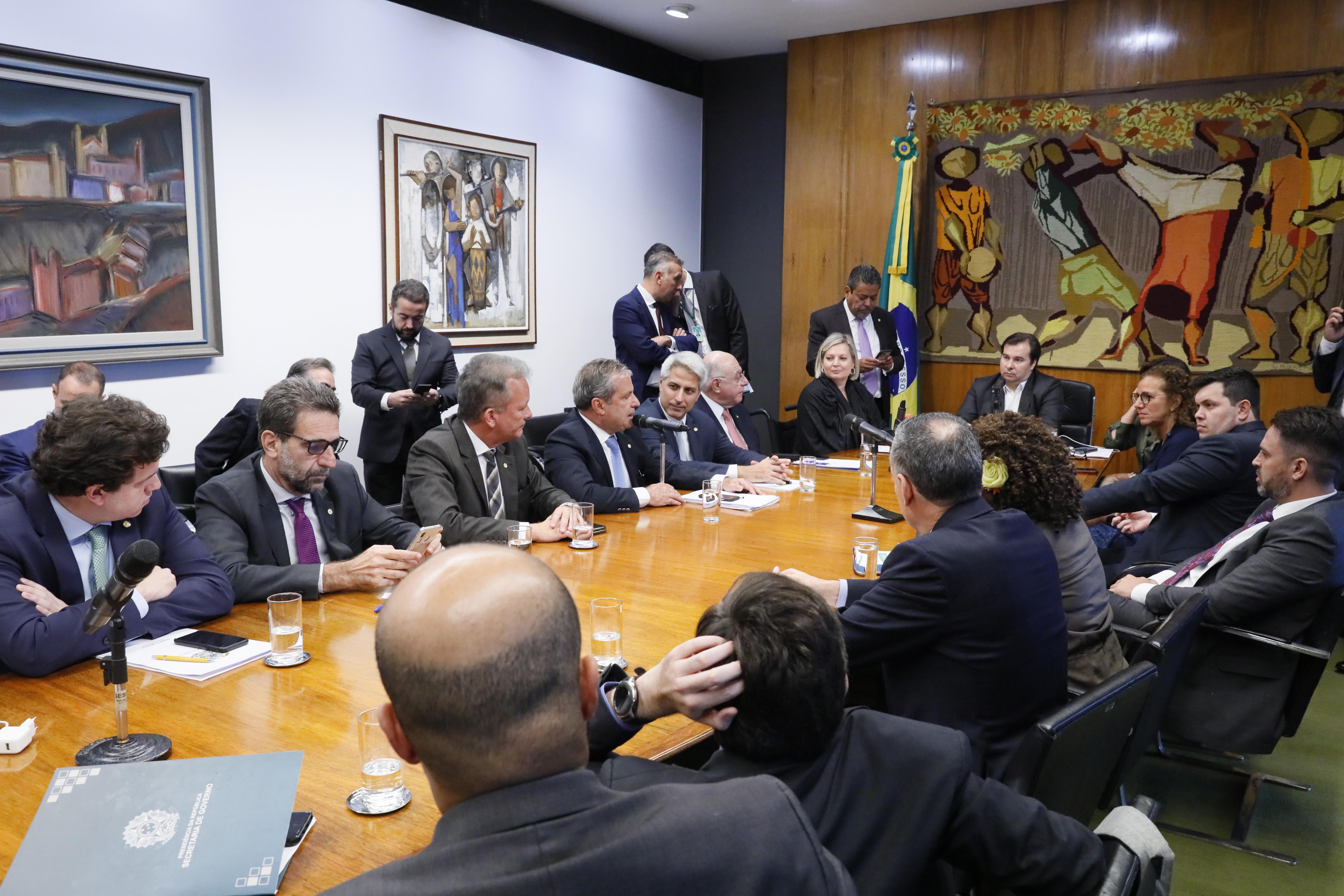 Reunião de líderes de partidos na Câmara dos Deputados em 11/03/2020. Foto: Luís Macedo/Câmara dos Deputados.